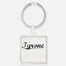 Tyrone, Vintage Square Keychain