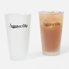 Traverse City, Vintage Drinking Glass
