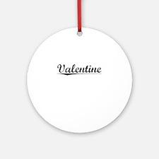 Valentine, Vintage Round Ornament