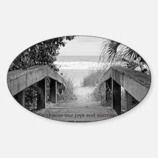 Kahlil Gibran Quote Sticker (Oval)