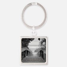 Kahlil Gibran Quote Square Keychain