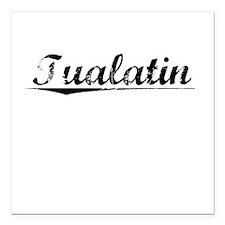 "Tualatin, Vintage Square Car Magnet 3"" x 3"""