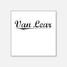 "Van Lear, Vintage Square Sticker 3"" x 3"""