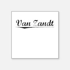 """Van Zandt, Vintage Square Sticker 3"""" x 3"""""""