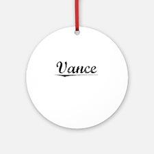 Vance, Vintage Round Ornament
