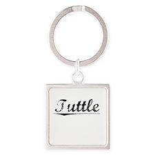 Tuttle, Vintage Square Keychain
