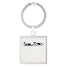 Twin Buttes, Vintage Square Keychain