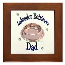 Labrador Retriever Dad Framed Tile