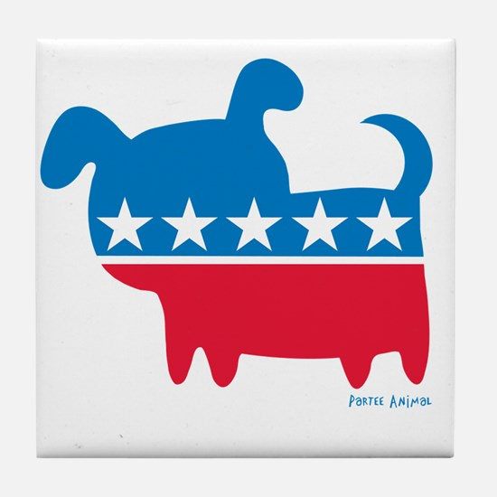 THE DOG PARTY Tile Coaster