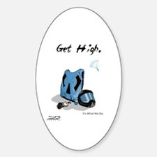 Skydiving Equiptment - Get High Oval Decal