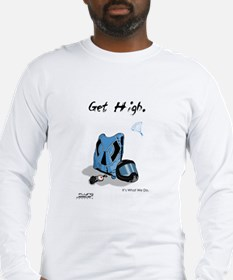 Skydiving Equiptment - Get High Long Sleeve T-Shir