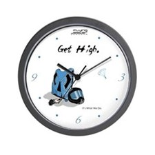 Skydiving Equiptment - Get High Wall Clock
