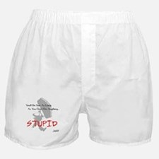 Don't Do Anything Stupid Skydiving Boxer Shorts