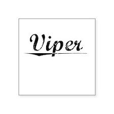 """Viper, Vintage Square Sticker 3"""" x 3"""""""