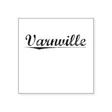 """Varnville, Vintage Square Sticker 3"""" x 3"""""""