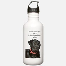 Black Lab Mom Sports Water Bottle