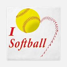 i love softball Queen Duvet