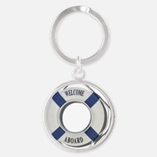 Welcome Aboard Life Preserver Round Keychain