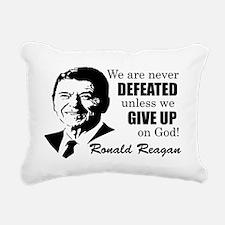 Never Defeated! Rectangular Canvas Pillow