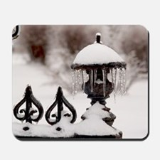 January icicles Mousepad