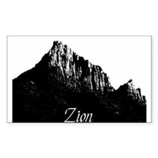 Zion Watchman B&W Rectangle Decal