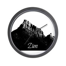 Zion Watchman B&W Wall Clock