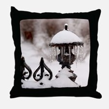 January icicles Throw Pillow
