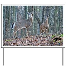 Doe and fawn Yard Sign