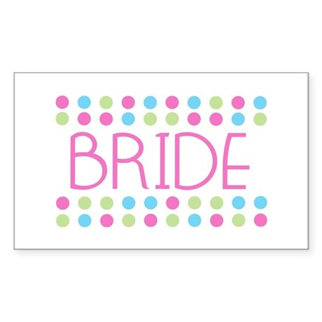 Bride Rectangle Sticker