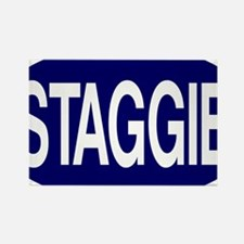 Staggie Nvy for Wh Rectangle Magnet