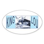 King Lou Homers Oval Sticker