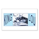 King Lou Homers Rectangle Sticker