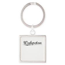 Wahpeton, Vintage Square Keychain