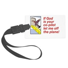 If God is Your Co-Pilot Luggage Tag