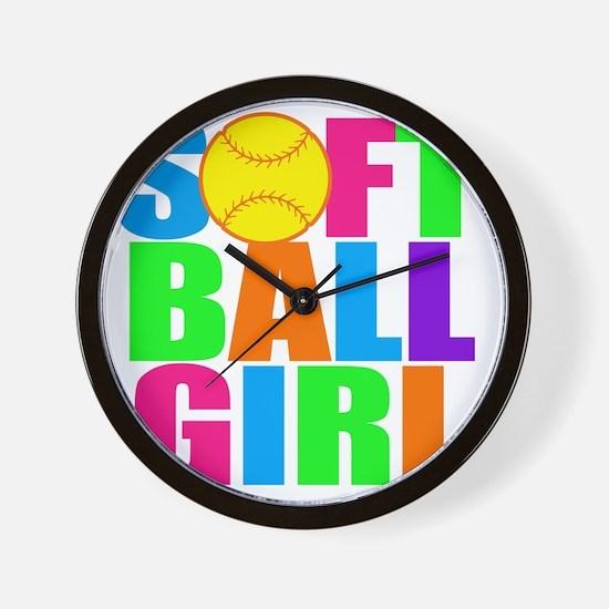 softball girl Wall Clock