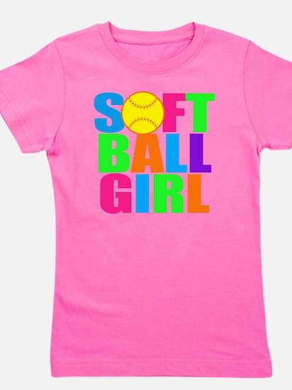 softball girl Girl's Tee