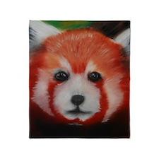 Red Panda Pastel Piece Throw Blanket