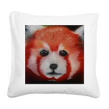 Red Panda Pastel Piece Square Canvas Pillow