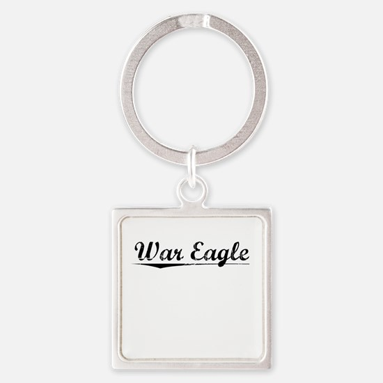 War Eagle, Vintage Square Keychain