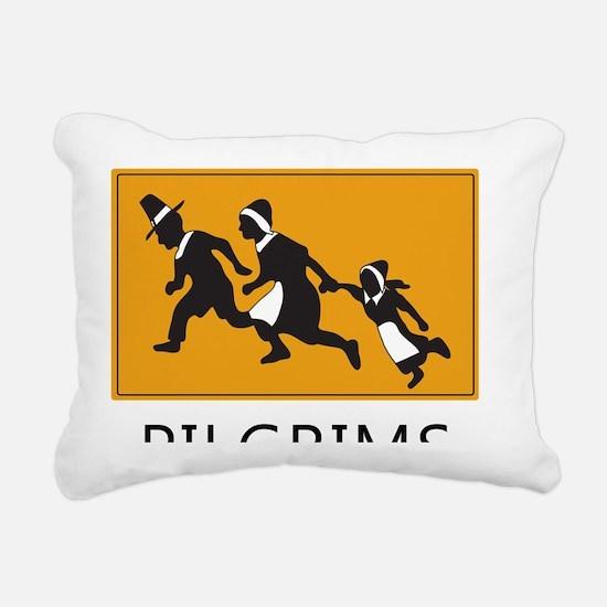 Pilgrims - The first ill Rectangular Canvas Pillow