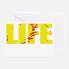 life begins(blk) Greeting Card