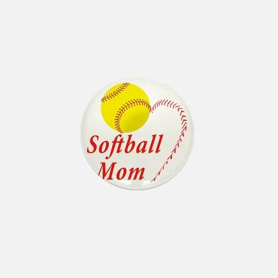 Softball Mom Mini Button