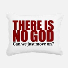 There is no God Rectangular Canvas Pillow
