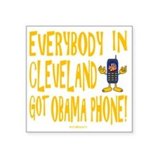 "Obama Phone Square Sticker 3"" x 3"""