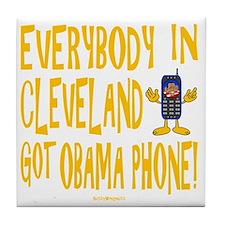 Obama Phone Tile Coaster