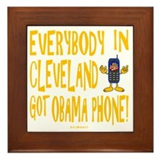 Obama Phone Framed Tile