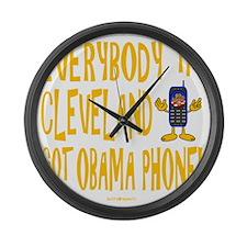 Obama Phone Large Wall Clock