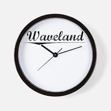 Waveland, Vintage Wall Clock