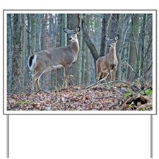 Doe with fawn Yard Sign