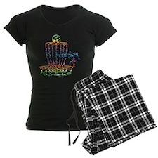 Disc Golf Basket Art Pajamas